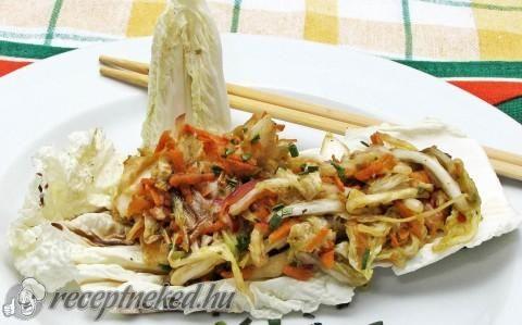 Kimchi (kimcsi, kim chee) koreai csípős káposzta recept fotóval