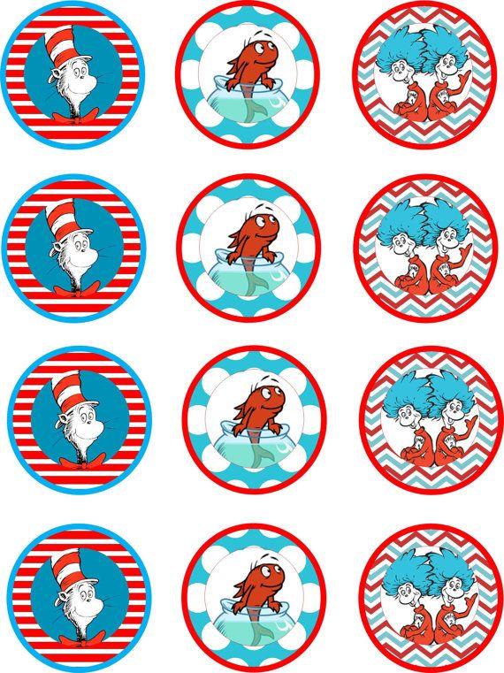 Dr. Seuss Cupcake Toppers-Printable