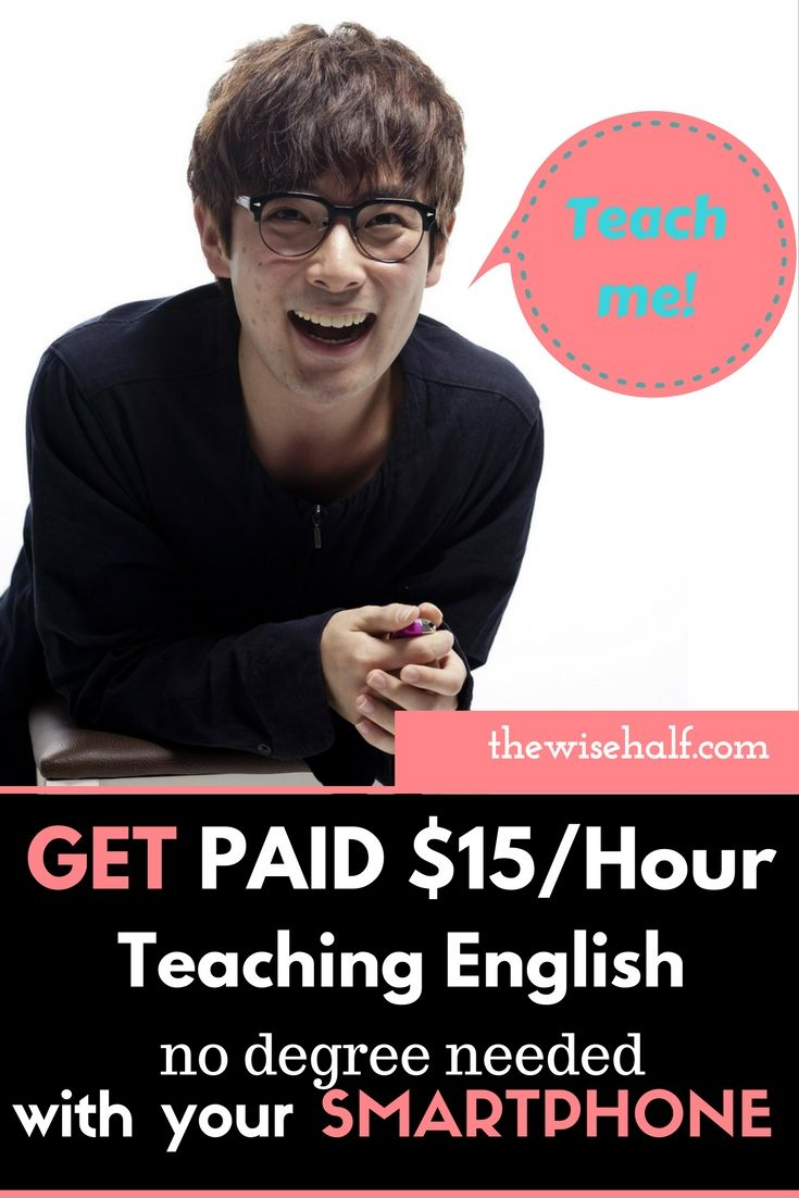 Chat with foreign students. Teach at your own convenient time. get paid up $15/hour to $45/hour