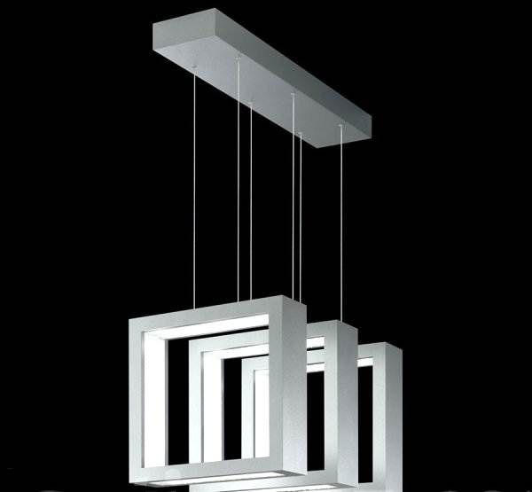 Beautiful Pendant Light Design and Its Type: Square Shaped Triple Suspension Modern Pendant Lighting For Modern House ~ novavn.com Lamps Inspiration