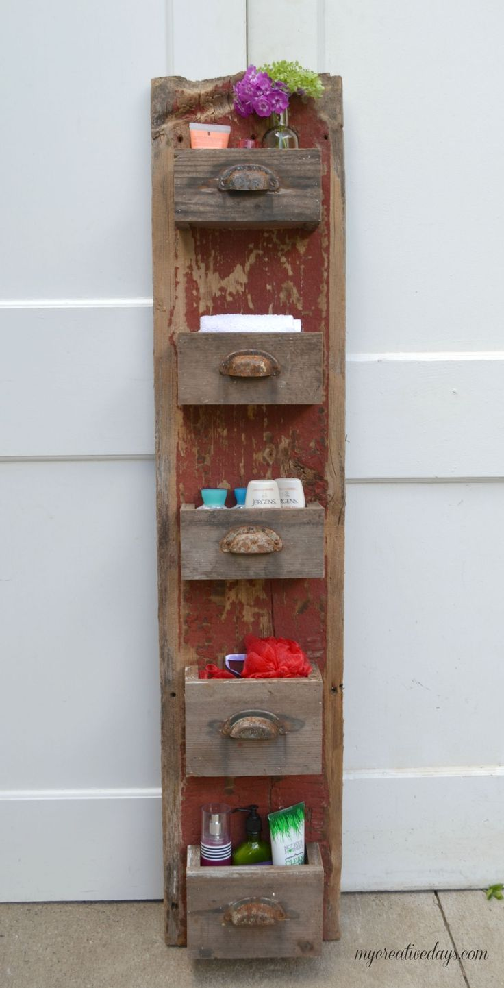 DIY Barn Wood Wall Bin