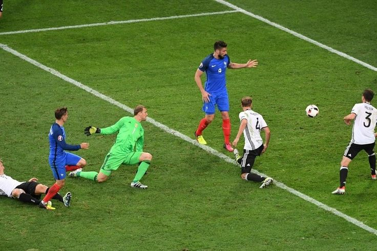 July 8 2016 - Anton Griezmann scores his second as hosts France reach EURO2016 final at expense of world champions Germany