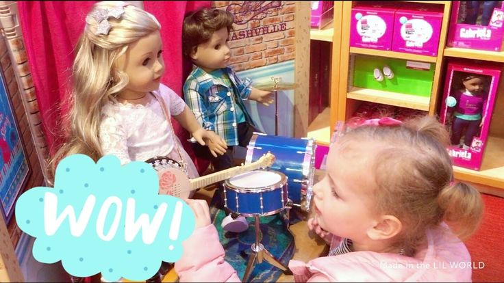 ШОПИНГ в магазине  игрушек American Girl   покупаем куклу SHOPPING in th...