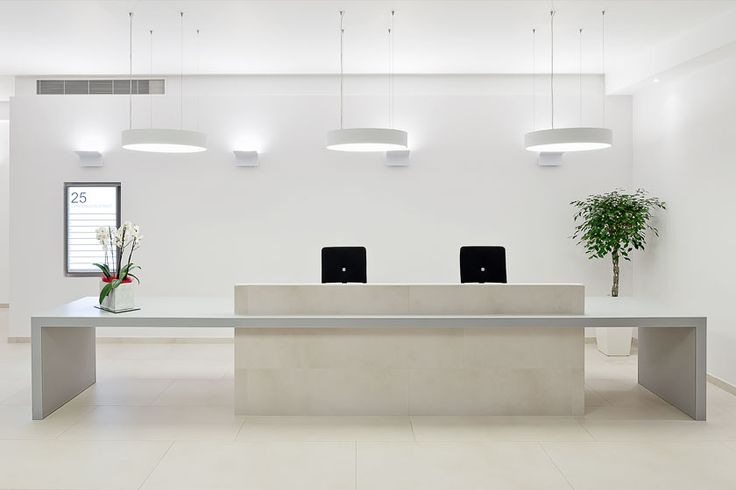 overclad existing reception desk - Google Search