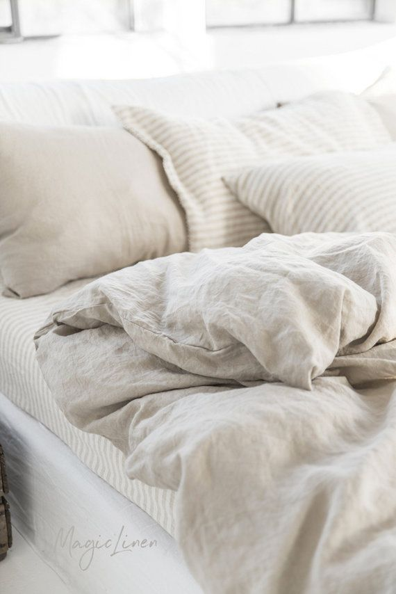 Our Natural Linen Colour Bedding Is Available In Sets Or Individual Items But Always Made From 100 Pure Linen Bed Linen Sets Linen Duvet Covers Linen Duvet
