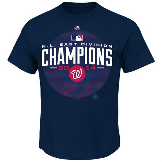 Washington Nationals Navy Blue 2014 NL East Division Champions T-Shirt