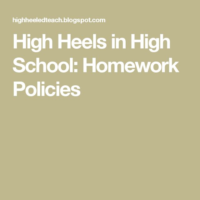 Secondary Schools Homework Policy 4th - image 2