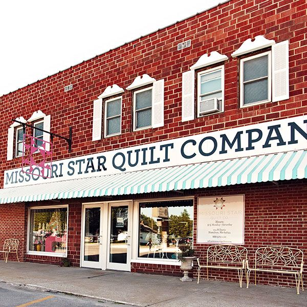 HAMILTON, MO - the Missouri Star Quilt Co is not one shop, but a dozen storefronts to explore (along with the MAN'S LAND storefront where guys can  relax in a comfy leather armchair, watch a game or hang out if they don't fancy shopping). Descriptions at the link. 50 miles east of St Joseph.