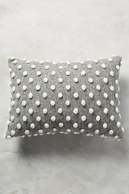 Throw pillows with poka dots