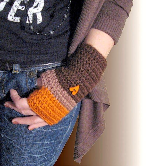 Najkrajší darček: Háčkované rukavice - návod.