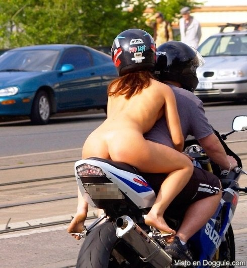 Women fucking on motorcycles