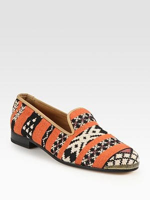 Cotton & Suede Loafer by Cobra Society Shoes Loafer Cobra_Society