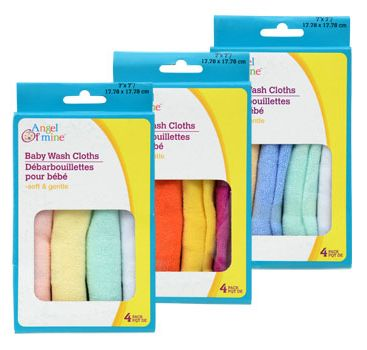 Available In A Variety Of Colors, Each Pack Of Baby Washcloths Is Just A  Buck. Baby WashclothDollar TreeCraft SuppliesAt 4Craft IdeasAngelCloths