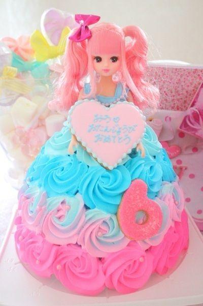 ゆめかわいいケーキ りかちゃんドールケーキ ジュウオウジャー立体ケーキ dollcake