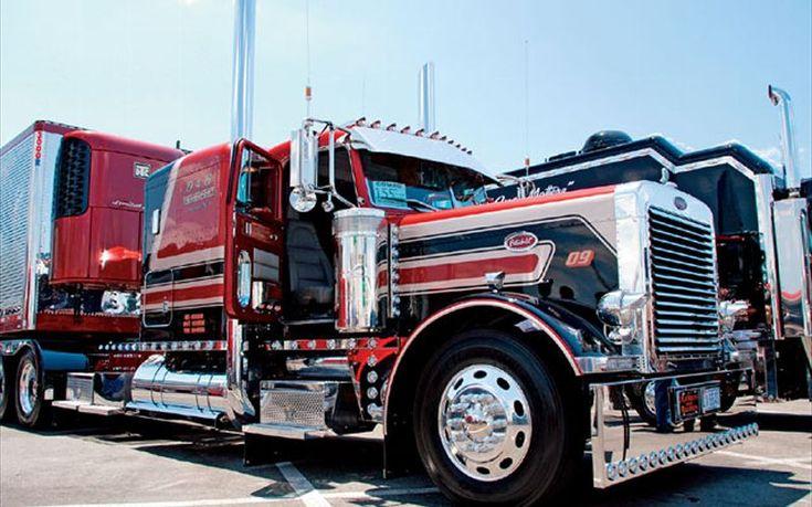 Custom peterbilt show trucks custom big rig truck show