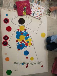 Cucù sono Turlututù aiutami tu l'atto creativo rinforza l'apprendimento, con l'utilizzo degli albi illustrati di Tullet Hervé se ne favorisce il segno