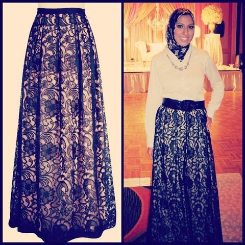 lace muslim dress