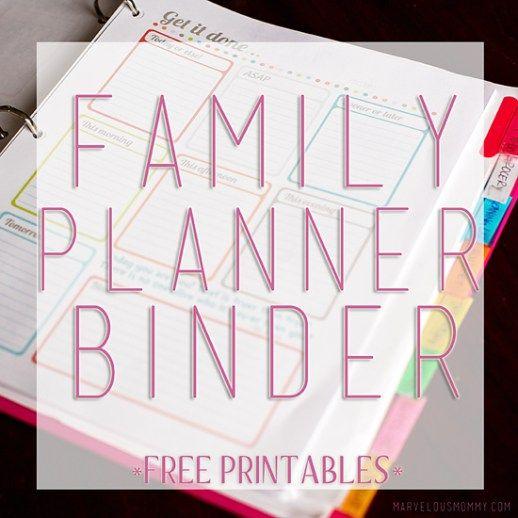 Family Planner Binder - Free Printables