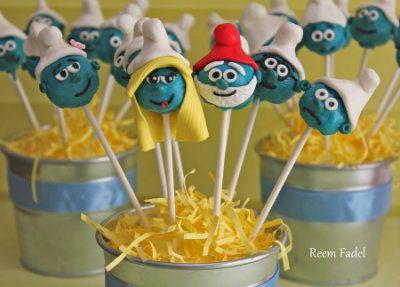Smurf Cake Pops