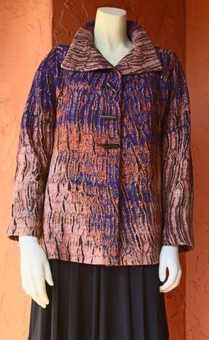 Ikat Shibori Barcelona Jacket: Purple Amber