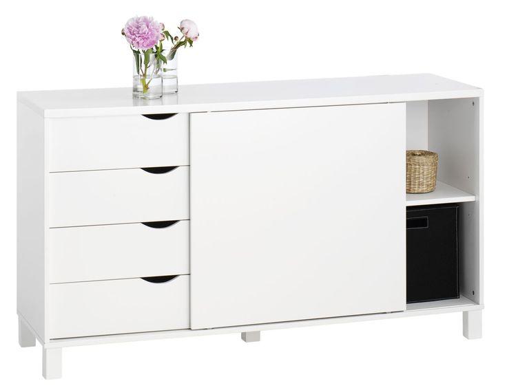 Kredens YALE 1 szafka 4 szuflady biały w JYSK.: Skuffer Hvid, Dressoir Yale, Låge, File Cabinets, Kreden Yale, Yale Jysk, Kredens Yale, Skænk Yale