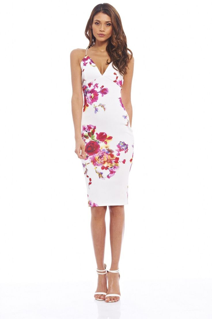 181 best wedding guest images on pinterest red beauty nails and womens deep v front floral midi cream dress online exclusive sears ombrellifo Choice Image