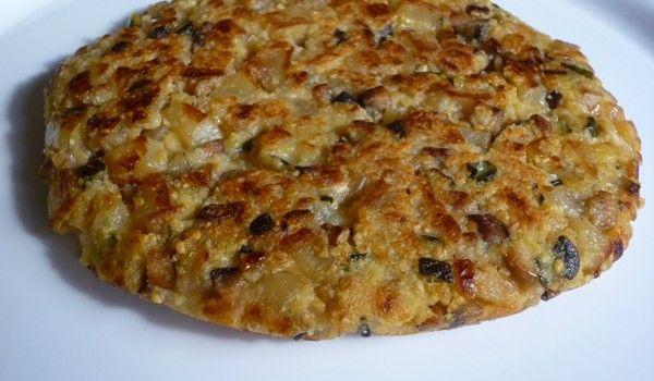 Tortilla de verduras sin huevos