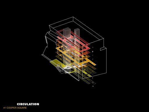 41 Cooper Square - Circulation Diagram | Morphopedia | Morphosis Architects