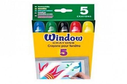 Мелкие восковые мелки для рисований на окнах, Crayola, 52-9765.