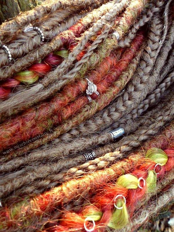autumn dreads and braids extensions synthetic