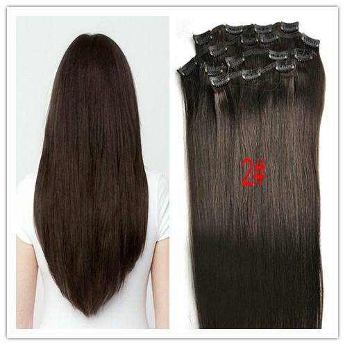 10 12 14 16 18 20 22 24 клип В наращивание Волос 7 шт. все цвета может быть сделано 7 шт./компл. и 70 г/компл. настоящие волосы бесплатная доставка