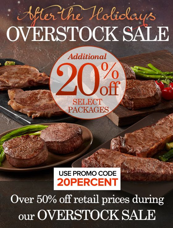 ★★★ 🅽🅴🆆 ★★★ Chicago Steak Company: Post-Holiday Overstock Sale Ongoing:  We're offering an additional 20% off select packages that Chicago…
