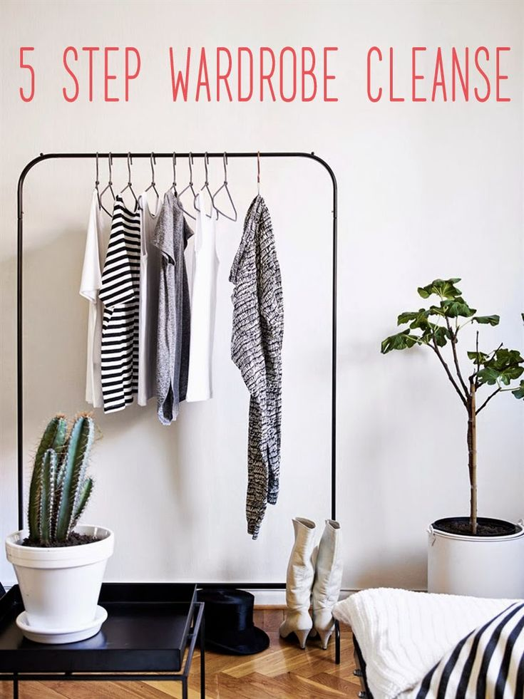 5 Step Wardrobe Cleanse    This post is part 2 of a series encouraging the transition to a minimal wardrobe—as in a wardrobe that is physically minimal (not the style) in order to limit our consumption, detach ourselves from material possessions, and live more socially-conscious lives.
