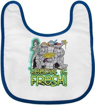 Ninja Kaplumbağalar - Fresh Kendin Tasarla - Bebek Önlüğü
