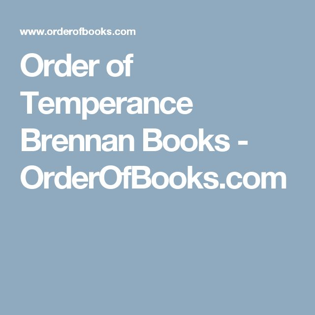 Order of Temperance Brennan Books - OrderOfBooks.com