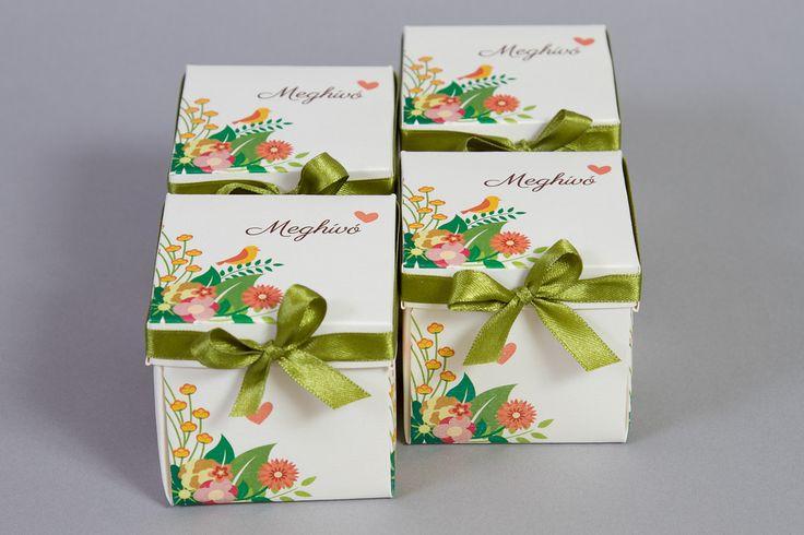 Dobozos esküvői meghívó _ Spring box wedding invitations