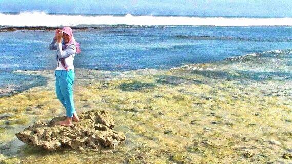Pantai Sepanjang, Gunung Kidul, Wonosari, Yogyakarta, Indonesia.