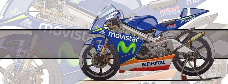 Racing Cafè: Motorcycle Art - Honda NSR 250 GP 2005-2009 by Evan DeCiren