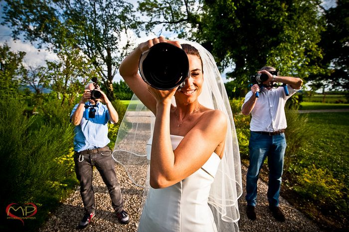 Wedding in Italy / Fun picture of the Bride