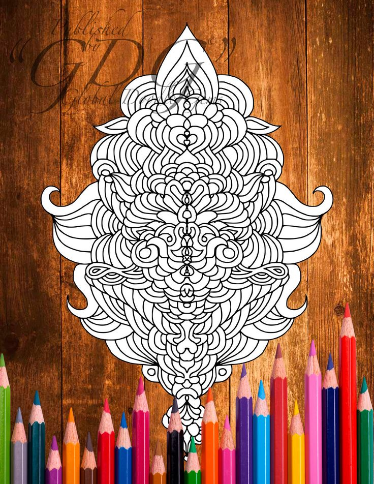 Weirdie 1 #adult coloring page by AMVWART on Etsy