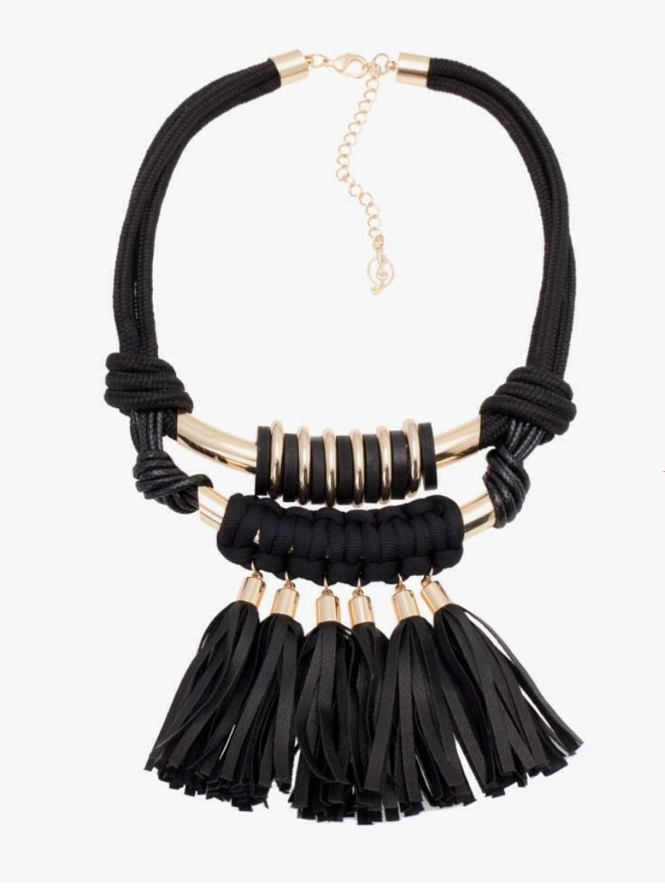 Stradivarius (INDITEX - ZARA Company) Leather-look tassel necklace Ref. 09001004   eBay 45$