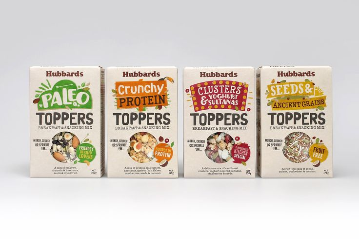 New packaging for Hubbards Toppers by Coats Design, New Zealand