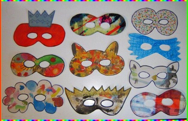 Maschere di Carnevale - Semplici e colorate queste maschere fai da te per bambini.