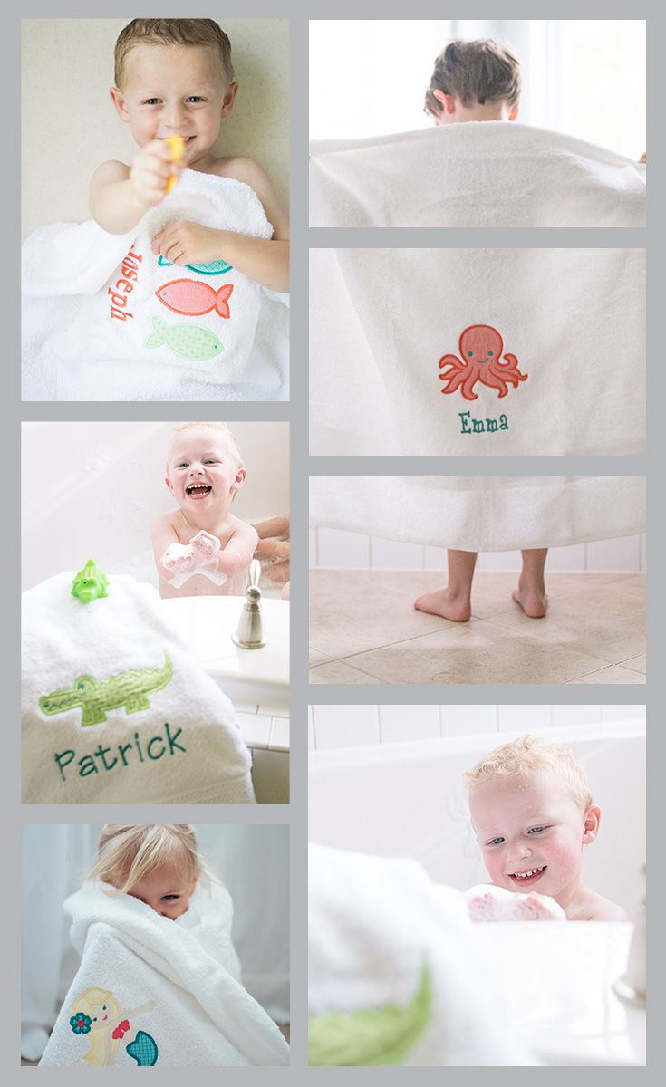 Kids Bath Towels The Best Monogrammed Bath Towels For Kids Kids Towels Baby