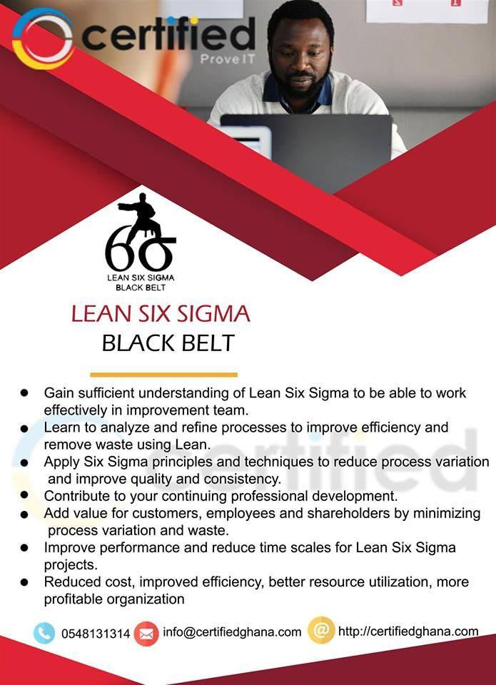 Enroll For Certified Lean Six Sigma Black Belt Certification