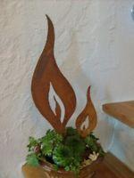 Flamme in Edelrost zum Einstecken 5cm x 18cm
