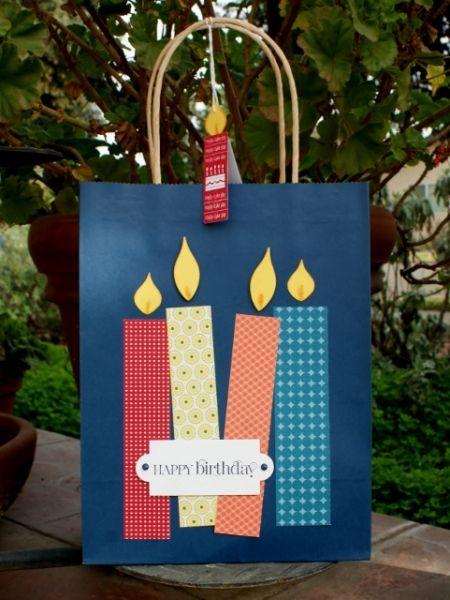 Birthday Candles Gift Bag and Tag