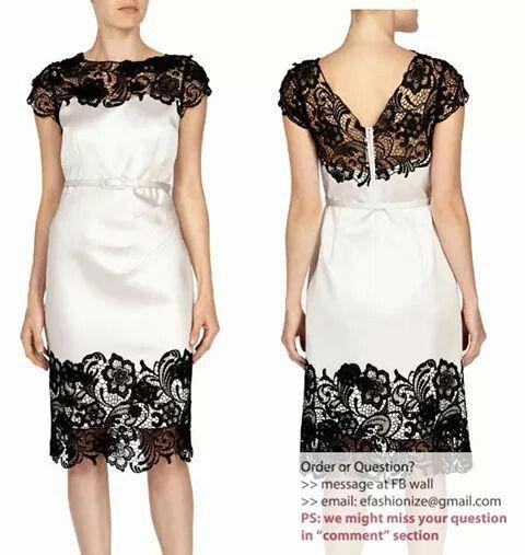 Long dress putih polos horizontal