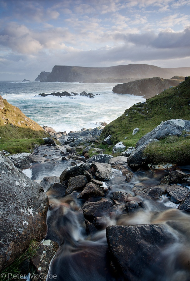 Coastline near Glen Head, County Donegal, #Ireland #Eire