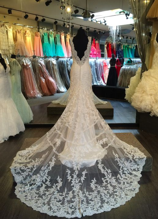 Best 25 allure wedding gowns ideas on pinterest allure for Wedding dresses with dramatic backs